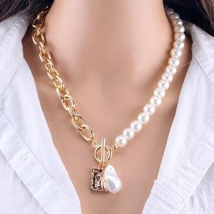 HOST PICK   Bold Gold Chain & Pearl Necklace